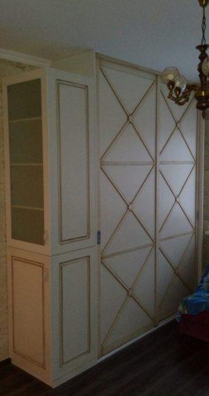 Классический шкаф купе эмаль+патина Батайск