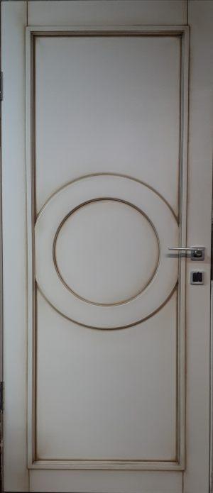 Межкомнатная дверь в профиле массив (эмаль с патиной) Батайск