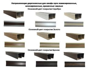 Направляющие двухполосные для шкафа купе ламинированные, шпонированные, крашенные эмалью Батайск