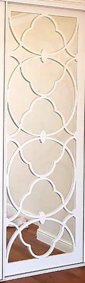 Вставка с фигурной филенкой на зеркале эмаль Батайск