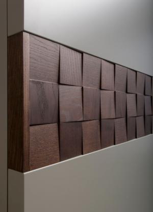 Вставка в двери с накладными квадратами шпон Батайск